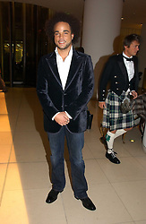 Singer NATE JAMES at a Burns Night dinner in aid of CLIC Sargent and Children's Hospice Association Scotland held at St.Martin's Lane Hotel, St.Martin's Lane, London on 25th January 2007.<br />