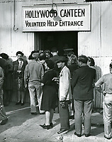 1943 Volunteers entrance at the Hollywood Canteen