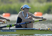 Caversham, Reading,  GBR W2-  Alison KNOWLES, GB Rowing Team Training at Redgrave Pinsent Lake, Engand [Credit Peter Spurrier/Intersport Images]  [Mandatory Credit, Peter Spurier/ Intersport Images]. , Rowing course: GB Rowing Training Complex, Redgrave Pinsent Lake, Caversham, Reading