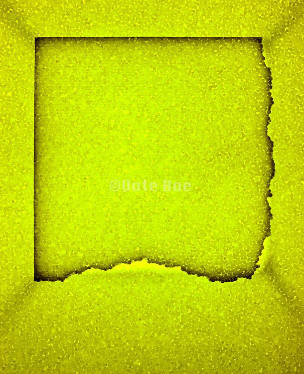 Yellow styrofoam abstraction