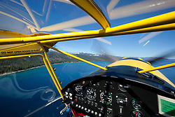 """""""Seaplane over Lake Tahoe 2"""" - Aerial photograph of Lake Tahoe and Emerald Bay. Shot from an amphibious seaplane with the door removed."""