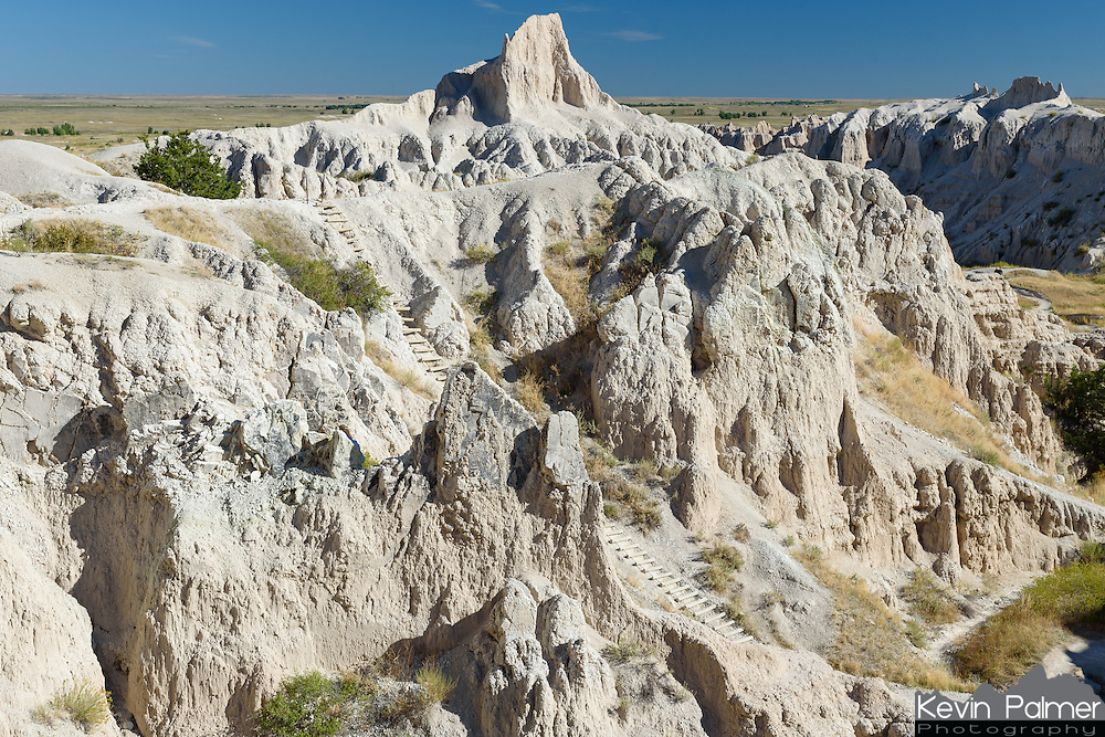 This ladder/stairway is part of the Notch Trail in Badlands National Park.
