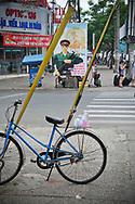 Propaganda poster in a street of Ho Chi Minh city, Vietnam, Southeast Asia