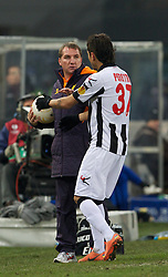 06.12.2012, Stadio Friuli, Udine, ITA, UEFA EL, Udinese Calcio vs FC Liverpool, Gruppe A, im Bild Liverpool's manager Brendan Rodgers clashes with Udinese Calcio's Roberto Pereyra during during the UEFA Europa League group A match between Udinese Calcio and Liverpool FC at the Stadio Friuli, Udinese, Italy on 2012/12/06. EXPA Pictures © 2012, PhotoCredit: EXPA/ Propagandaphoto/ David Rawcliffe..***** ATTENTION - OUT OF ENG, GBR, UK *****