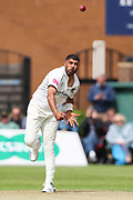 Jeetan Patel of Warwickshire during the Specsavers County Champ Div 1 match between Yorkshire County Cricket Club and Warwickshire County Cricket Club at York Cricket Club, York, United Kingdom on 17 June 2019.