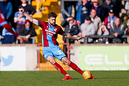 Scunthorpe United defender Cameron Burgess (21) in action  during the EFL Sky Bet League 1 match between Scunthorpe United and Doncaster Rovers at Glanford Park, Scunthorpe, England on 23 February 2019.