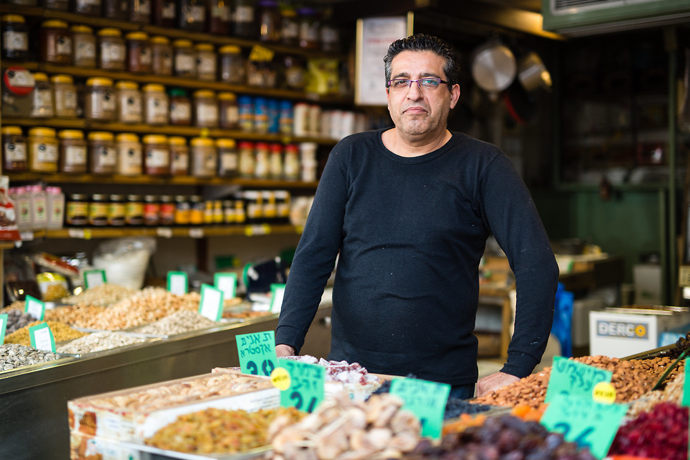 Meir (last name not disclosed), an Iranian-born Israeli is seen at his shop, Khoubian Market, in the Levinsky Market in southern Tel Aviv, Israel, on April 16, 2015. The majority of the Levinsky Market vendors are traditional Iranian Jews, many of whom fled the Islamic Republic after Ayatollah Khomeini rose to power in 1979.
