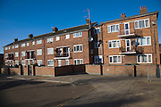 Public housing low rise flats, Great Yarmouth, Norfolk, England