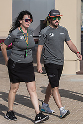 November 23, 2017 - Abu Dhabi, United Arab Emirates - Fernando Alonso of Spain and McLaren Honda Team driver arrives to the paddock on Formula One Etihad Airways Abu Dhabi Grand Prix on Nov 23, 2017 in Yas Marina Circuit, Abu Dhabi, UAE. (Credit Image: © Robert Szaniszlo/NurPhoto via ZUMA Press)
