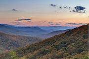 A scenic view of the mountains from the Shanadoah National Forest.  Photo/Andrew Shurtleff