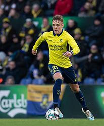 Lasse Vigen (Brøndby IF) under kampen i 3F Superligaen mellem Brøndby IF og Lyngby Boldklub den 1. marts 2020 på Brøndby Stadion (Foto: Claus Birch).