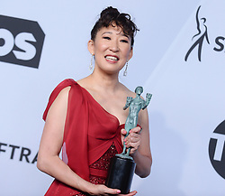 25th Annual Screen Actors Guild Awards - Press Room. 27 Jan 2019 Pictured: Sandra Oh. Photo credit: MEGA TheMegaAgency.com +1 888 505 6342
