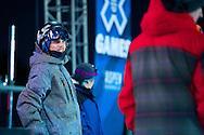 Lyman Currier during Ski Superpipe Practice at 2014 X Games Aspen at Buttermilk Mountain in Aspen, CO. ©Brett Wilhelm/ESPN