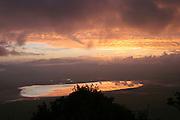 Africa, Tanzania, sunset over Lake Manyara National Park