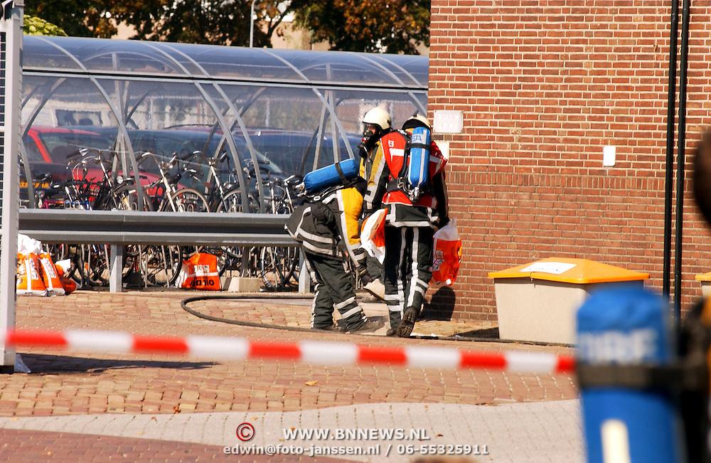 Gas lekkage bij BNI Huizen, gaspakken, beschermende kleding