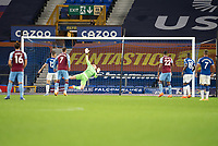 Football - 2020 / 2021 League (Carabao) Cup - Round 4 - Everton vs West Ham United - Goodison Park<br /> <br /> Everton's Jordan Pickford is beaten by a shot from West Ham United's Robert Snodgrass<br /> <br /> COLORSPORT/TERRY DONNELLY
