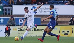 Jason Naismith of Peterborough United crosses the ball against Wycombe Wanderers - Mandatory by-line: Joe Dent/JMP - 03/11/2018 - FOOTBALL - Adam's Park - High Wycombe, England - Wycombe Wanderers v Peterborough United - Sky Bet League One