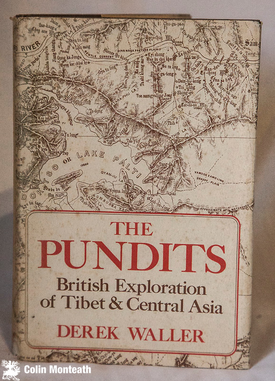 THE PUNDITS - BRITISH EXPLORATION OF TIBET & CENTRAL ASIA - Derek Waller,  Univ Press of Kentucky, 1st US Edn., 1990 VG Hardback in Good dustjacket - B&W plates with great maps. - The Pundit were Indians employed by the British to make secret journeys across Tibet, Afghanistan and across parts of Central Asia to make maps and gather information useful to combat aspects of the Great Game against the supposed advance of Russia - a remarkable piece of research. much of it new to me. Scarce in New Zealand $NZ80 ( Arnold Heine Collection)