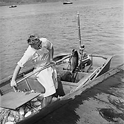 Y-570430D-09.  opening of Gill net fishing on the Columbia River near Multnomah Falls. April 30, 1957