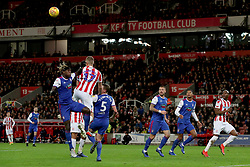 Ipswich Town's Trevor Chalobah and Stoke City's Ryan Shawcross  during the Sky Bet Championship match at the bet365 Stadium in Stoke.