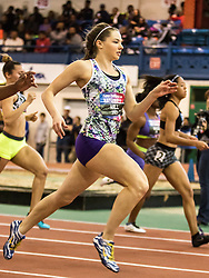 New Balance High School National Indoor Track & Field Championships: girls 60, Kate Hall, ME