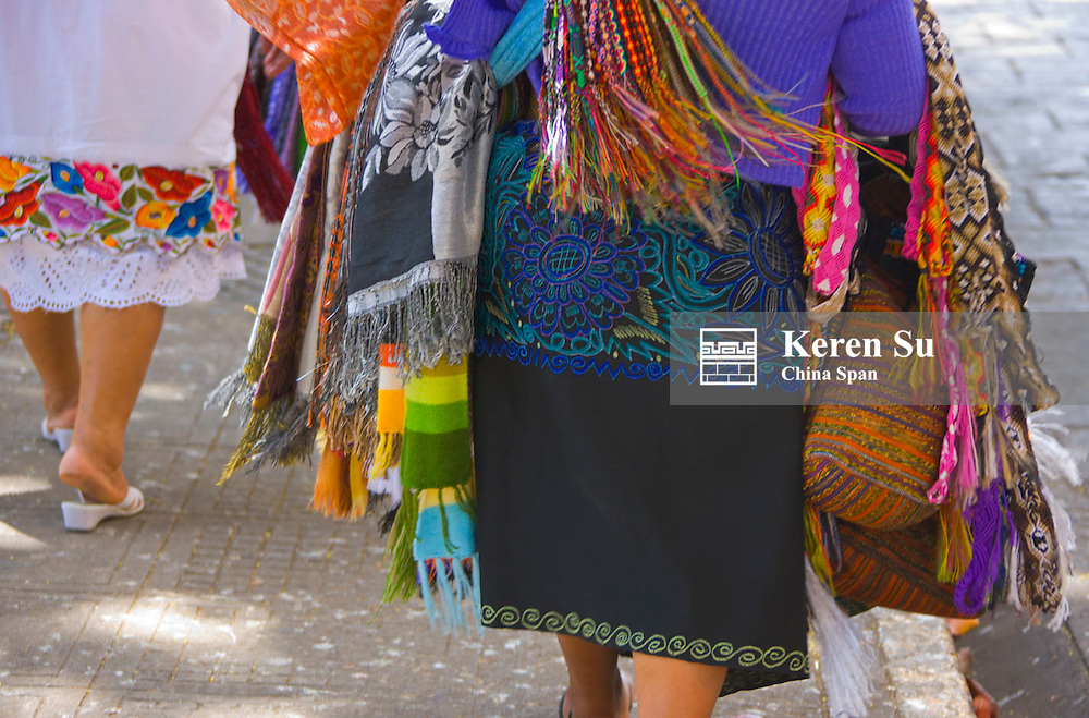 Mexico woman in traditional dress, Merida, Yucatan State, Mexico