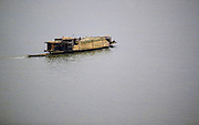 Cargo transported in sacks on barge along Pearl River, Canton, China