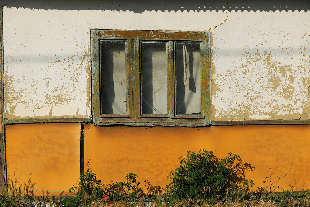 Land abandonment results in Letea - abandoned houses, cars, homes, Danube delta rewilding area, Romania