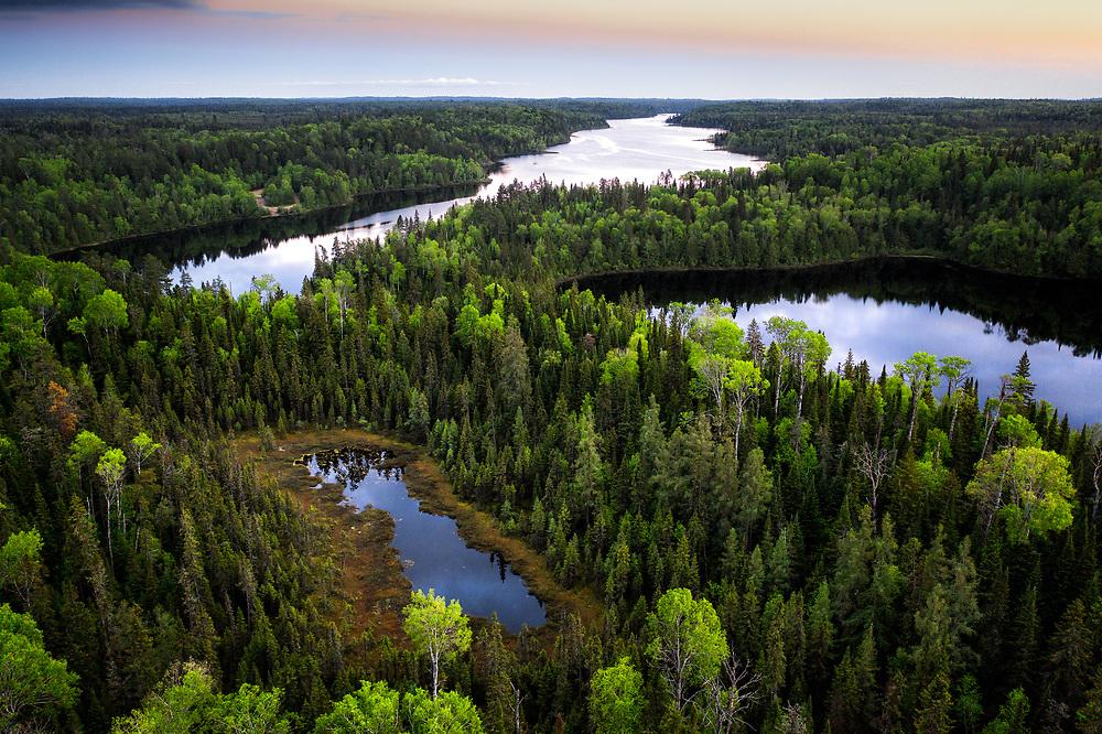 Lebell Lake at Spanish River Provincial Park, Northern Ontario.