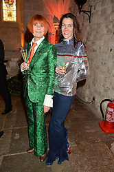 Left to right, MARY PORTAS and MELANIE RICKEY at Save the Children's spectacular, black tie Winter Gala, a festive fundraising event held at London's Guildhall. Guests were transported into the magical world of the much-celebrated British novelist, Roald Dahl, in celebration of his centenary, for a marvellous evening of fine dining and gloriumtious entertainment to raise money to help transform children's lives across the world and here in the UK.