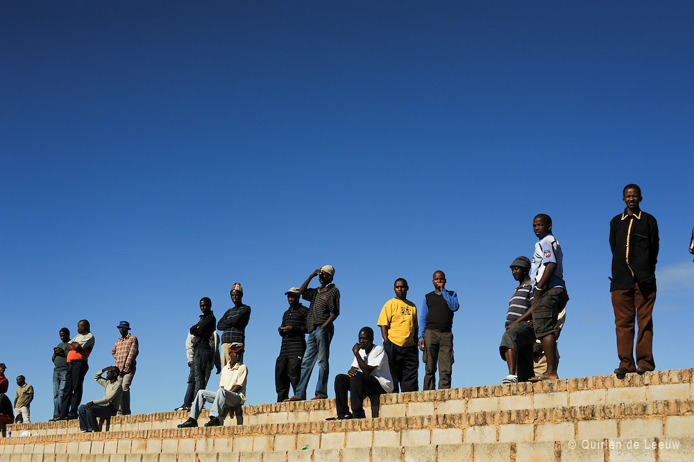 Young people listening to vivid speeches of (ANC) veterans during May Day, an important historical day in South African politics and history.