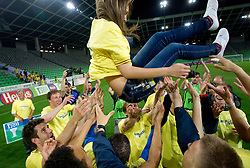 Maja Zugec, 12th player of NK Domzale celebrates after the football match between NK Domzale and NK Maribor in final match of Hervis Cup, on May 25, 2011 in SRC Stozice, Ljubljana, Slovenia. Domzale defeated Maribor and became Slovenian Cup Champion 2011. (Photo By Vid Ponikvar / Sportida.com)