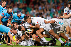 March 23, 2019 - Sydney, NSW, U.S. - SYDNEY, NSW - MARCH 23: Crusaders pack charge forward at round 6 of Super Rugby between NSW Waratahs and Crusaders on March 23, 2019 at The Sydney Cricket Ground, NSW. (Photo by Speed Media/Icon Sportswire) (Credit Image: © Speed Media/Icon SMI via ZUMA Press)