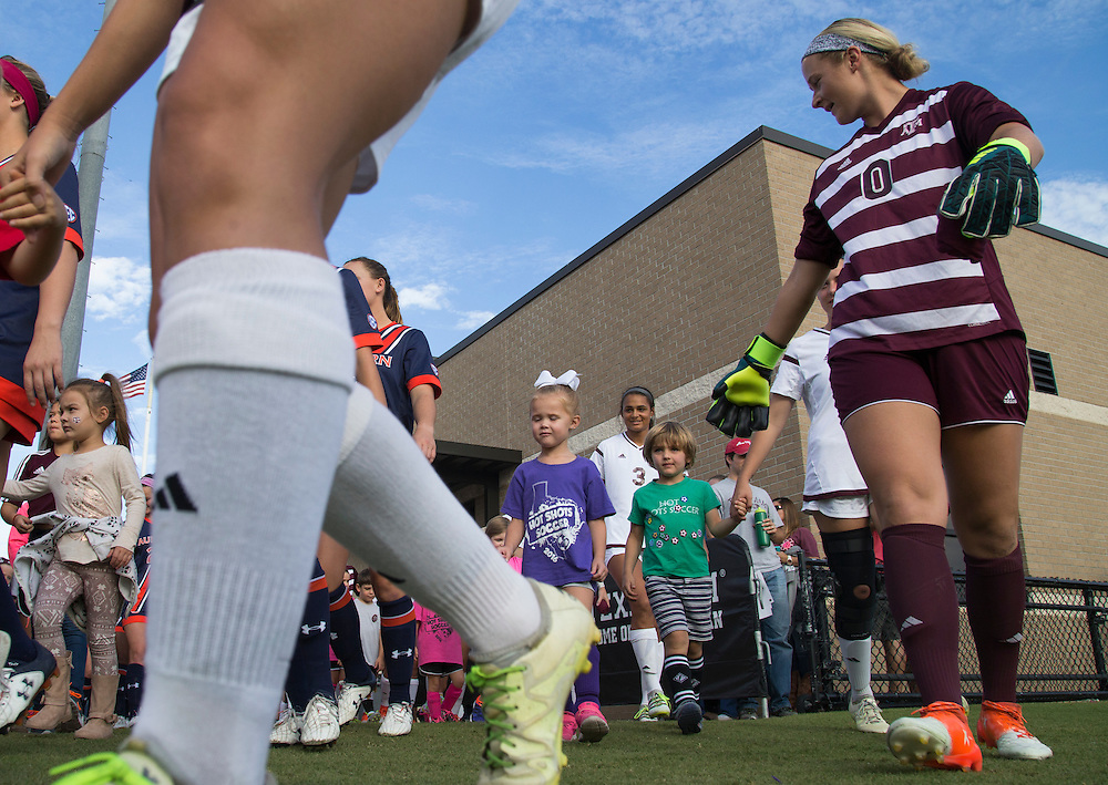 Auburn vs. Texas A&M NCAA college soccer game, Sunday, October 23, 2016, in College Station, Texas.