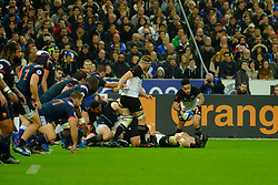 November 11, 2017 - Saint Denis, Seine Saint Denis, France - New Zealand team scrum-half AARON SMITH in action during the friendly match between France and New Zealand at the Stade de France - St Denis - France.New Zealand beats France 38-18 (Credit Image: © Pierre Stevenin via ZUMA Wire)