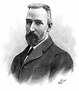 Pierre Curie (1859-1906) French chemist. Awarded Nobel prize for physics in 1903 jointly with his wife, Marie, and Henri Becquerel. Engraving