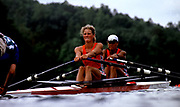 Atlanta, USA,   NED W2X  bow, EIJS, Irene and VAN NES, Eeke, move away from the start at the 1996, Olympic Rowing Regatta at Lake Lanier, Gainsville Georgia,  [Photo Peter Spurrier/Intersport Images]