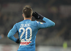 December 16, 2017 - Turin, Italy - Piotr Zielinski celebrates his goal during Serie A match between Torino v Napoli, in Turin, on December 16, 2017  (Credit Image: © Loris Roselli/NurPhoto via ZUMA Press)