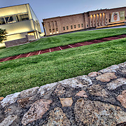 Nelson Atkins Museum of Art, old neoclassical building and Bloch Building addition, Kansas City, Missouri.
