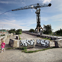 Nederland, Amsterdam , 18 mei 2012..Kraan 13 op het NDSM terrein in Amsterdam Noord wordt een hotel in de nabije toekomst..Foto:Jean-Pierre Jans