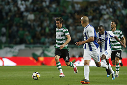 April 18, 2018 - Lisbon, Lisboa, Portugal - Sporting CP Defender Fabio Coentrao from Portugal (C) during the Sporting CP v FC Porto - Portuguese Cup semi finals 2 leg at Estadio Jose Alvalade on April 18, 2018 in Lisbon, Portugal. (Credit Image: © Dpi/NurPhoto via ZUMA Press)