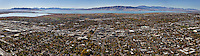 Multi-Image aerial panoramic of downtown Provo