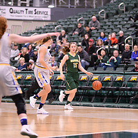 5th year guard Caitlin Zacharias (15) of the Regina Cougars during the Women's Basketball home game on November 25 at Centre for Kinesiology, Health and Sport. Credit: Casey Marshall/Arthur Images