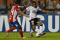 20120307: SAO PAULO, BRAZIL - Player Mazacotte and Jorge Henrique during Corinthians (Brasil) vs Nacional (Paraguai) for Copa Libertadores held at Pacaembu stadium in SP<br /> PHOTO: CITYFILES