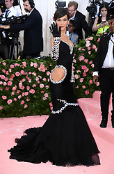 """Bella Hadid at the 2019 Costume Institute Benefit Gala celebrating the opening of """"Camp: Notes on Fashion"""".<br />(The Metropolitan Museum of Art, NYC)"""