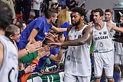 Travor Lacey<br /> Dinamo Banco di Sardegna Sassari - Proximus Spirou Charleroi<br /> FIBA Basketball Champions League 2016/2017<br /> Sassari 02/11/2016<br /> Foto Ciamillo-Castoria