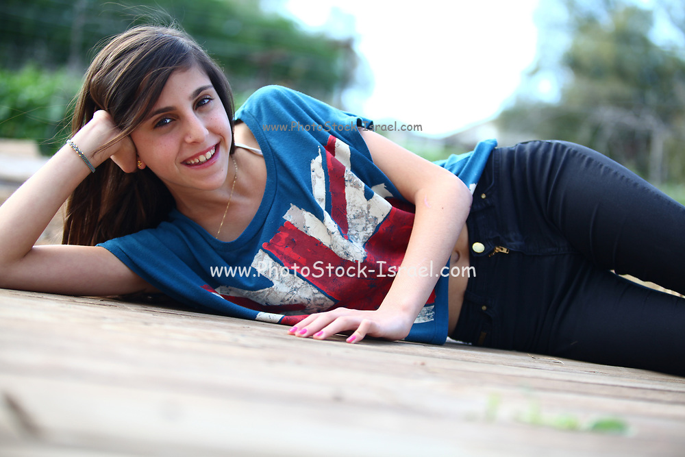 Smiling happy teen girl
