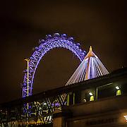 La ruota panoramica London Eye conosciuta anche come Millennium Wheel.<br /> <br /> The ferris wheel London Eye, also known as the Millennium Wheel.