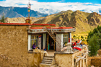 Village near Dagze, Tibet (Xizang), China.