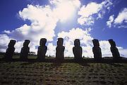 Ahu Akivi, Restored 1960, Easter Island, chile<br />